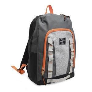 "17"" ProSport Backpack gray black orange"